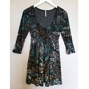 Free People Musa Burnout Velvet Dress